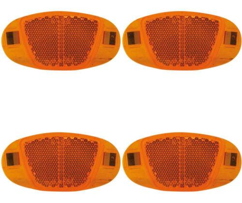 Fahrrad Reflektoren Speichenstrahler StVZO Cat Eye Speichenreflektoren 4 Stück