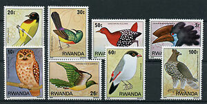 Rwanda-1979-MNH-Birds-8v-Set-Sunbirds-Weavers-Eagles-Owls-Stamps