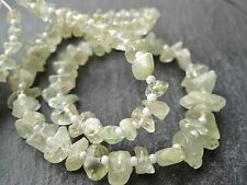 """ROUGH AQUAMARINE NUGGETS, approx 3x5 - 6x10mm, 14"""" strand with spacers, 90 beads"""
