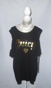 JUICY COUTURE Pitch Black Crew Neck W/Cursive Heart Dia