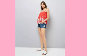 Red Contrast Embroidered Cami Top New Look Beautiful Brand New Gift idea Pretty