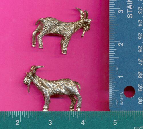 4 wholesale lead free pewter goat figurines E5147