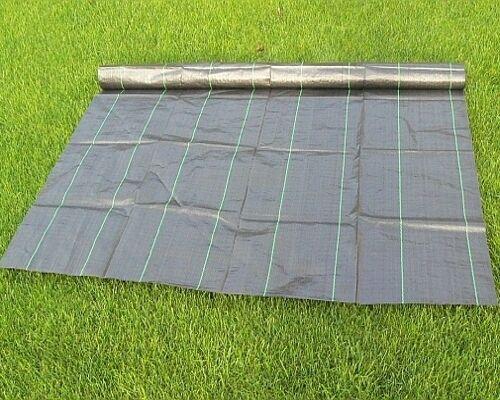 40m² Gartenvlies Bodengewebe Unkrautfolie Mulchfolie Unkrautschutz 0,4x100