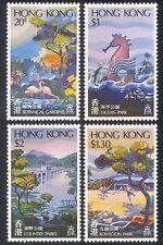 Hong Kong 1980 Parks/Gardens/Flamingo/Dolphin/Football/Bridge/Birds 4v (n39975)