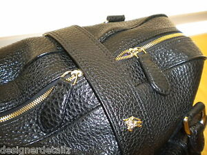 BURBERRY-PRORSUM-LEATHER-HANDBAG-TOTE-PURSE-BLACK