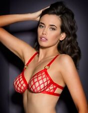 Agent Provocateur Red Fishnet Bubbles Bra & Thong Set - Size AP 4 - New