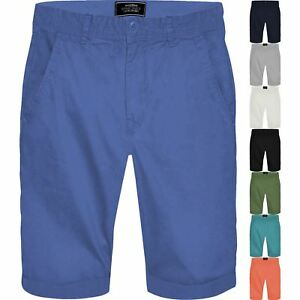 Mens-Springfield-Chino-Shorts-100-Cotton-Knee-Length-Casual-Half-Pant-Bottoms