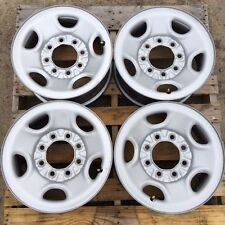 "CHEVY/GMC TRUCK - VAN 16"" 8 LUG ON 6.5"" BOLT PATTERN GRAY STEEL WHEELS RIMS OEM"