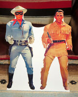 Lone Ranger & Tonto (illustration) Western Tabletop Display Standee 10 1/2 Tall