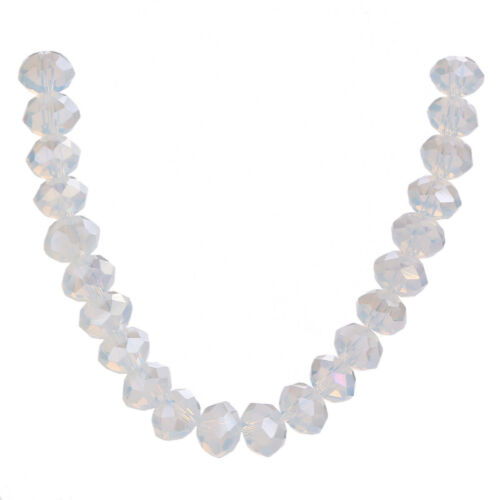 Wholesale Crystal Glass Faceted Rondelle Loose Spacer Beads 3-8mm DIY Findings