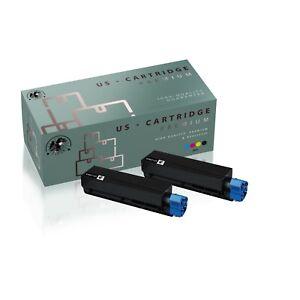 2PK 45807105 High Yield Black Toner Cartridge Compatible OKI Data B412dn MB562w