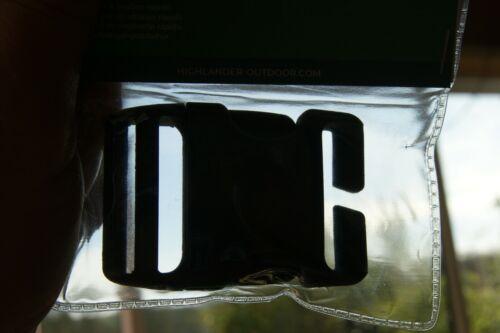 38 mm Qr Dégagement Rapide Plastique NOIR Remplacement Sac à dos Sac à Dos Sangle Boucle