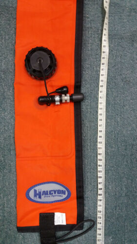 Halcyon Diver/'s Alert Marker 3.3/' oral inflate with OPV SMB Orange 1 m long