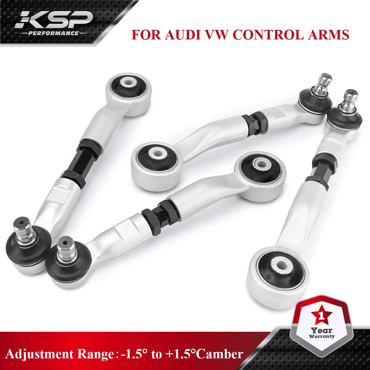 Image 1 - KSP 4PC Adjustable Upper Control Arms Kit For Audi A4 Quattro A5 S5 A6 S6 Passat