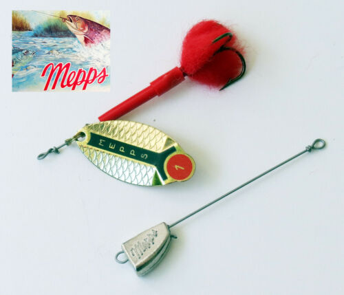 Cuiller Mepps Lusox dorée T1 Original Spinner 70 mm 10 grs
