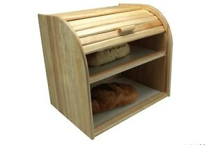 Details About 2 Tier Large Double Decker Bread Bin Holder Rack Pitta Storage Box Double Shelf