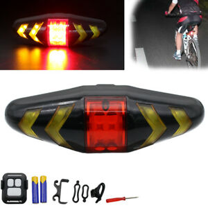Bicycle-Bike-Rear-LED-Tail-Light-Wireless-Remote-Control-Turn-Signal-AAA-Lamp-US