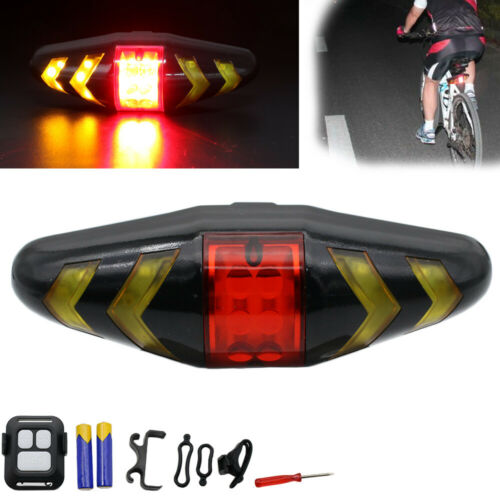Wireless Bicycle Bike Rear LED Tail Brake Light Turn Signal Lamp Remote Control