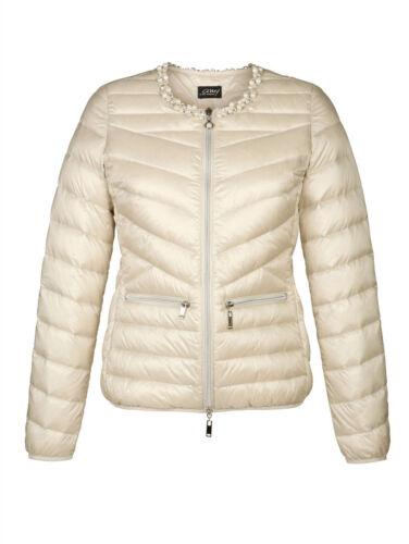 beige giacca piumino Giacca 44 leggera leggera Nuovo piumino gr 4q6XxawfX