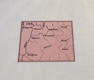 FleißIg Landkarte 1871 Lyon Avignon Valence Turin Grenoble Mont Blanc Annecy Eine VollstäNdige Palette Von Spezifikationen