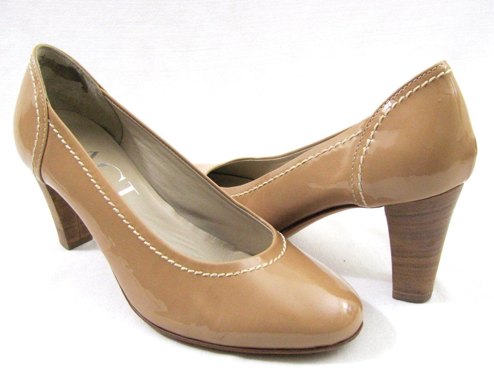 popolare AGL Nude Patent Leather Tan Pump Pump Pump 9 Nude Heels  39 Attilio Giusti Leombruni   prodotto di qualità