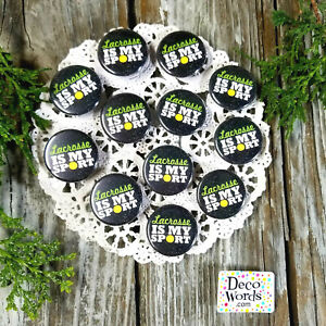 12-Lacrosse-La-Crosse-Pins-1-25-034-PIN-BACK-BUTTONS-BADGES-party-favors-gift-USA