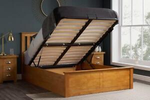 Astounding Details About Phoenix Wood King Size Gas Lift 5Ft 150Cm Oak Ottoman Storage Bed Frame Solid Dailytribune Chair Design For Home Dailytribuneorg