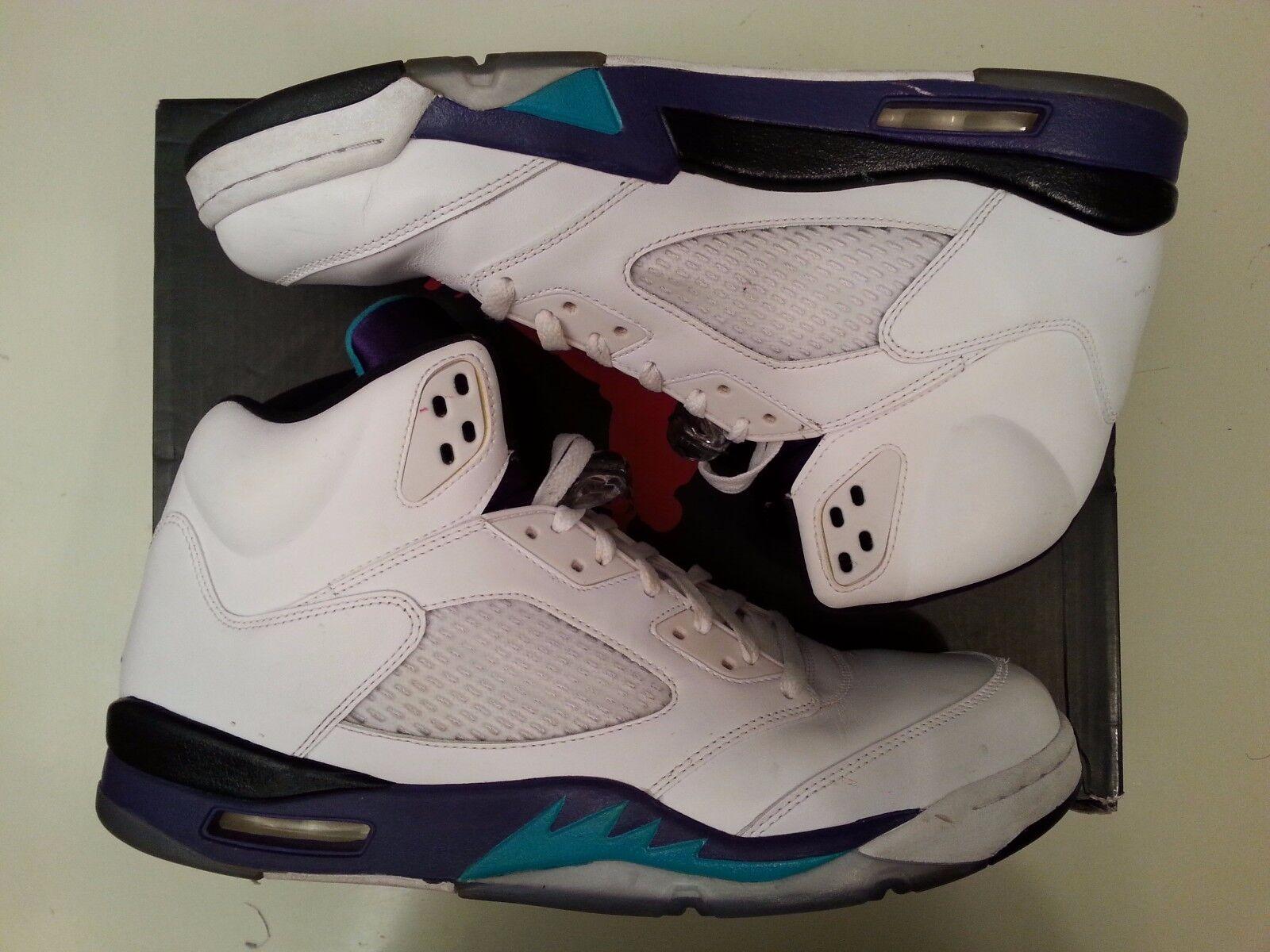 2013 Nike Air Jordan 5 V Retro Retro V Grape White size 14.136027-108. b7704e