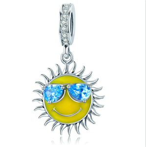 Fashion-925-Silver-Crystal-Sun-Charm-European-Beads-Fit-Necklace-Bracelet-DIY