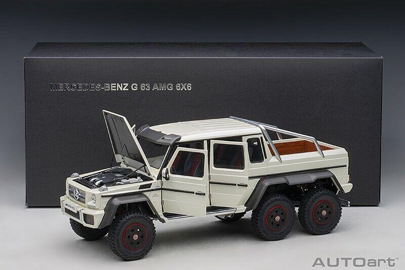 Autoart Mercedes-Benz G63 AMG 6x6 Designo Diamantweiß Composite Modell 1 18