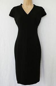 NEXT-BNWT-Black-stretch-knee-shift-work-wear-office-dress-tailored-16R-16P
