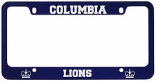 Columbia University -Metal License Plate Frame-Blue