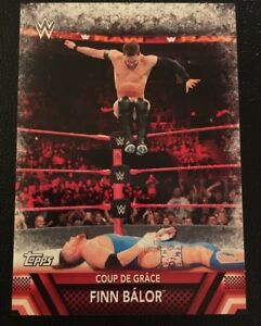 """Details about WWE 2017 Topps Then Now and Forever Finishers """"Coup De Grace""""  Finn Balor F-27"""