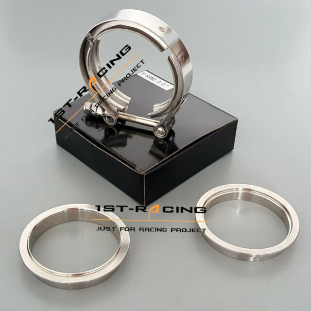 """Male Female Flange Kits Stainless 2.5/"""" 64mm SS304 Exhaust Downpipe V Band Clamp"""