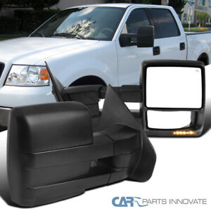 For 2004 2005 2006 Ford F150 Pickup Extending Tow Power Heated w//Amber LED Signal Mirrors Passenger Right Side