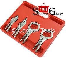 4PC MINI LOCKING PLIERS C CLAMP SET  MOLE GRIP WRENCH TOOL VICE WELDING CT1342