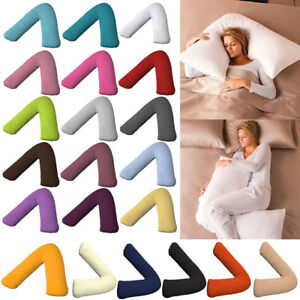 V-Shape-Pillow-Maternity-Cushion-Support-Case-Baby-Cover-Sleeping-Pregnancy-Feed