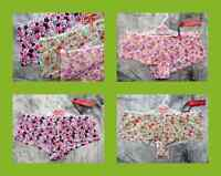 8/10 BNWT SMALL  3 x PAIRS FLORAL BRIEFS PANTS KNICKERS SHORTIES LOVING MOMENTS