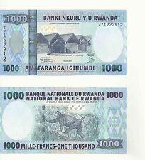 "Replacement ""ZZ"" Serial Banknote Rwanda 1000 Francs UNC - RARE ( 2008)"
