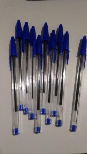 x15 boligrafos bic medium cristal clasico original boli boligrafo vic AZUL