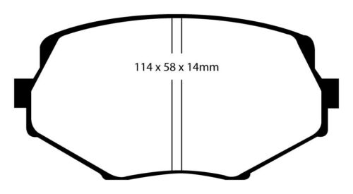 EBC Greenstuff Sportbremsbeläge Vorderachse DP21002 für Mazda MX-5