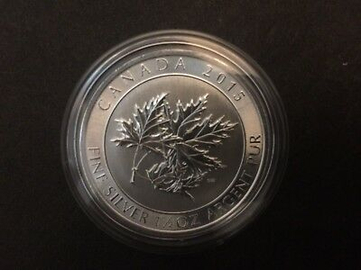 2015 Canada $8 1.5oz 1 1//2oz Super Maple Leaf Fine Silver Bullion coin round BU