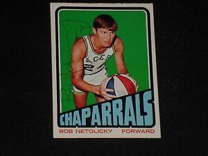 BOB-NETOLICKY-1972-73-TOPPS-SIGNED-AUTOGRAPHED-CARD-228-INDIANA-CHAPARRALS