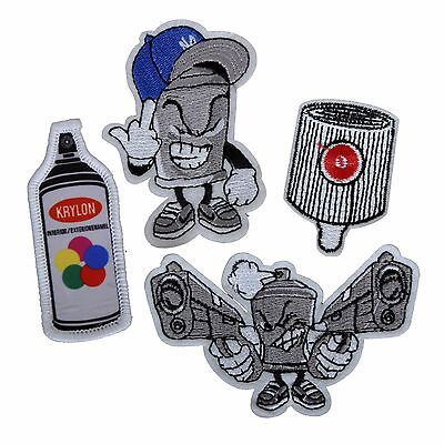 CUSTOM MADE LIMITED EDITION NYC STREET GRAFFITI URBAN ART STYLE IRON ON PATCHES