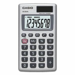 Casio HS-8VA, Solar Powered Standard Function Calculator, 8 digit LCD display
