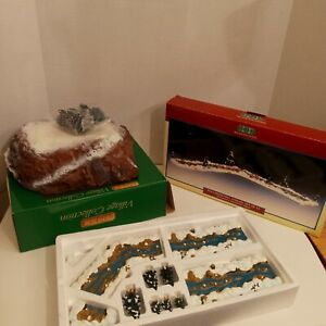 Lemax Forest Resin Extendable Stream Christmas Holiday Village Accessory set 11