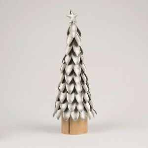 image is loading silver metal christmas tree glitter decorations sass and