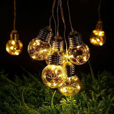 6M 4,5W 125er LEDs Lichterkette Außen Weihnachten Garten Party Licht Warmweiß