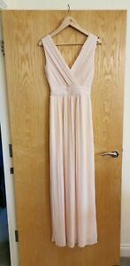 Asos-Nude-Pale-Pastel-Pink-Pleated-Maxi-Dress-Size-8-Bridesmaid-Ball-Wedding