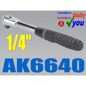 1-4-Inch-Socket-Ratchet-Drive-Wrench-Sealey-AK6640-Vanadium-Chrome-NEW